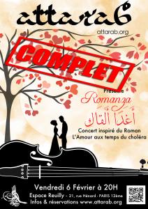 Romanza! Le 6 Février 2015 à l'Espace Reuilly Paris 12ème